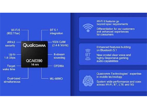 Qualcomm QCA6390 connectivity chipset with 1 8Gbps WiFi 6